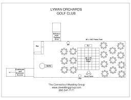 Floor Plan For Wedding Reception by The Lyman Orchards Golf Club Connecticut Wedding Place