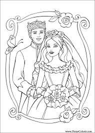 drawings paint u0026 colour barbie princess print design 025