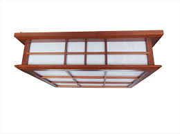 Japanese Ceiling Light Japanese Ceiling Lights Mahogany Finish Shoji L Wood Paper