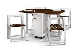 elegant folding table with chair storage inside with drop leaf