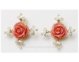 designer stud earrings designer lovely girlish design earrings buy coral stud