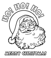 Ho Ho Ho And Happy Merry Christmas From Santa Coloring Page Merry Coloring Pages Printable