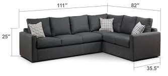 Sectional Sofa With Bed by Athina 2 Piece Left Facing Queen Sofa Bed Sectional Charcoal