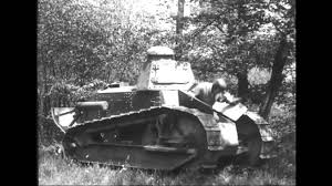 french renault tank renault ft ww1 light tank demonstration test video vintage footage