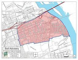 Columbia Sc Map Boil Water Advisory Lifted City Of West Columbia