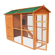 aosom pawhut large backyard chicken coop with outdoor run