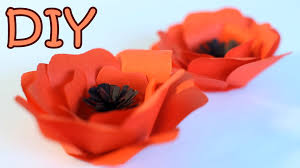 diy paper poppy flower how to make a poppy from paper youtube