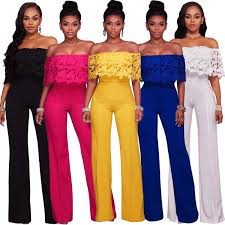 jumpsuits for evening wear fashion the shoulder venice wide legged evening wear