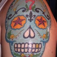 girly sugar skull with bow tattoo tattooimages biz