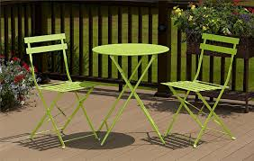 amazon com cosco 3 piece folding bistro style patio table and