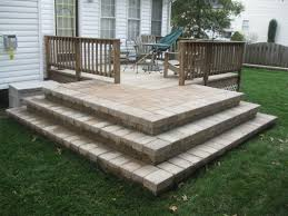 Stairs With Landing by Steps And Stairs Richmond Va Hardcape Stair Installation Cross