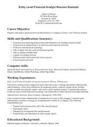 Resume Objective Samples For Entry Level Resume Objective Examples Entry Level Finance Academic Papers