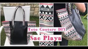 patron couture sac cabas coudre un sac cabas playa tuto couture facile débutant youtube