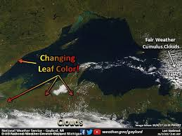 satellite image shows michigan u0027s fall leaf colors daily mail
