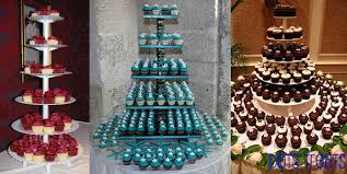 wedding cupcake tower create a wedding cupcake tower wedding favors unlimited bridal