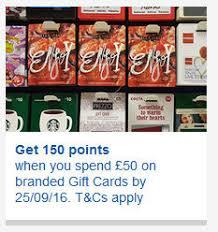 branded gift cards tesco killing clubcard points for branded gift cards insideflyer uk