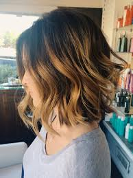 balayage color texturized bob and beach waves hair pinterest