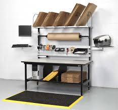 packing table with shelves workstation for packing area in warehouse home office pinterest