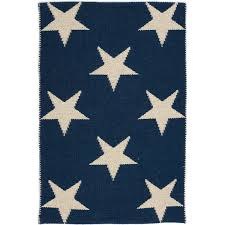 Blue And White Outdoor Rug Dash U0026 Albert Star Navy Ivory Indoor Outdoor Rug With Free