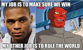 Westbrook Meme - russell westbrook red skull memes quickmeme