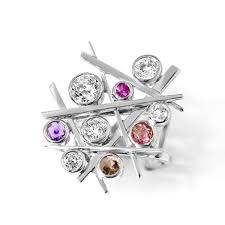 bespoke jewellery bespoke jewellery estefania cocktail ring in 18ct white gold