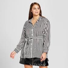 women u0027s plus size split long sleeve tunic shirt who what wear