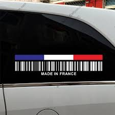 Car Window Flags Upc Barcode Made In France France Flag Funny Car Truck Decal