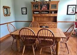 Bassett Dining Room Furniture Vaughan Bassett Solid Oak Grandma U0027s Keepsakes Dining Room Set Ebay