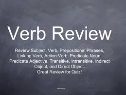 Action Linking Verbs Worksheet Verb Review Review Subject Verb Prepositional Phrases Linking