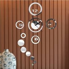 modern mirror wall clock sticker decal removable diy modern mirror wall clock sticker decal removable diy watches silver black colors for home decoration free shipping