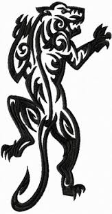 tribal tiger free machine embroidery design