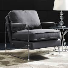 serena floating lucite chair tov furniture modern manhattan