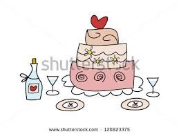 vector waiters hand tray wedding cake stock vector 197112092
