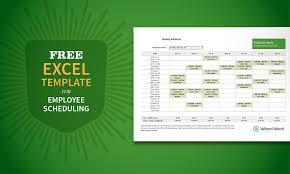 staff schedule templates