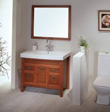 bathroom small brown wooden farmhouse bathroom vanity with medium
