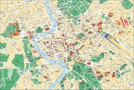 map attractions map of rome tourist attractions sightseeing tourist tour
