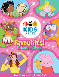 booktopia abc kids favourites colouring book pink abc