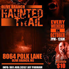 olive branch haunted trail home facebook