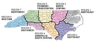 carolina school districts map map