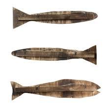 wood slat homart wood slat sealife fish wall art set of 3 areohome