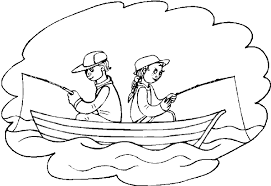 summer vacation coloring pages summer vacation fishing coloring page take a family fishing trip