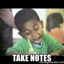 Meme Notes - take notes black kid coloring meme generator