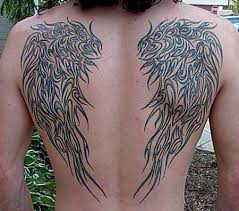 wings tattoo on shoulder