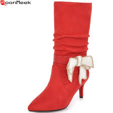 buy red mid calf boots and get free shipping on aliexpress com