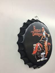 Home Decor Stores In Canada Harley Davidson Bottle Cap Sign 16