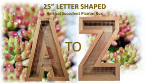 buy a handmade vertical succulent planter box large 25 u201d alphabet