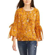 tunic blouse liberty juniors floral printed bell sleeve tunic blouse