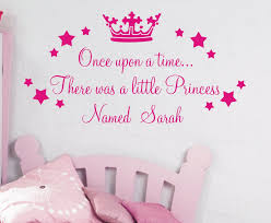 personalised once upon a time princess quote wall sticker for personalised once upon a time princess quote wall sticker for girls bedrooms free shipping in wall stickers from home garden on aliexpress com alibaba