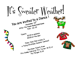 it u0027s sweater weather dance party u2013 friday december 18th pisgah