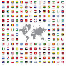 Color Of Egypt Flag World Flags All Vector Color Official Isolated Royalty Free